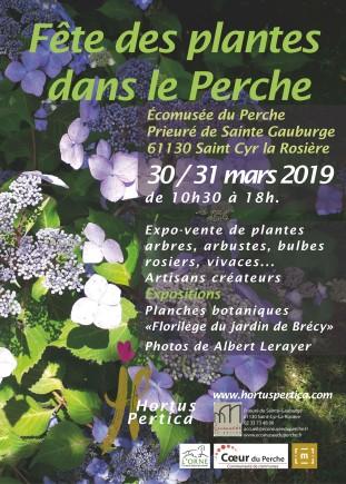 affiche fête des plantes 2019 au prieuré de Ste Gauburge